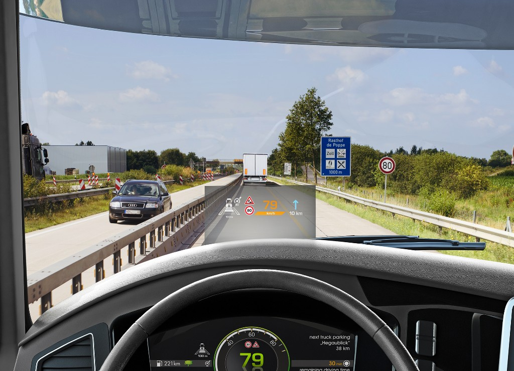 Continental presenta i nuovi head-up display