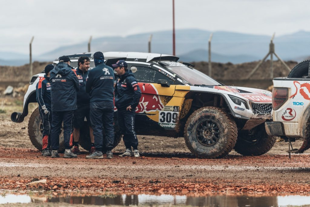 Sebastien Loeb (FRA) of Team Peugeot TOTAL waits to leave the bivouac of Oruro during Rally Dakar 2017 in Bolivia on January 7, 2017.